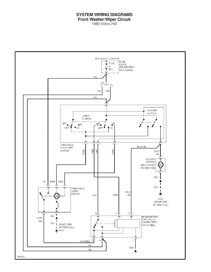 System Wiring Diagrams Rear Defogger Circuit 1989 Volvo 1989 Volvo 240  System Wiring Diagrams